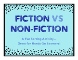 FICTION VS NON-FICTION SORT
