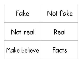 FICTION VS NON-FICTION SORT