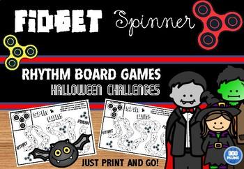 FIDGET SPINNER - HALLOWEEN RHYTHM GAME BOARDS
