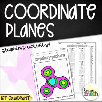 FIDGET SPINNER Coordinate Plane Graphing Activity! (1st Quadrant)