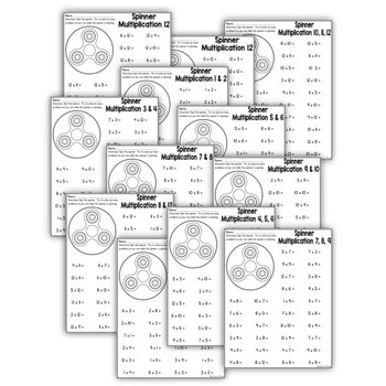 FIDGET SPINNER MULTIPLICATION – A MULTIPLICATION FLUENCY ACTIVITY