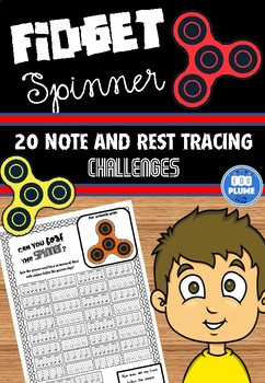 FIDGET SPINNER - NOTE AND REST DRAWING/TRACING CHALLENGING