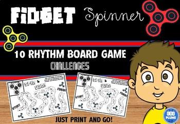 FIDGET SPINNER - NOTES/RESTS/RHYTHM BOARD GAMES