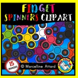 FIDGET SPINNERS CLIPART IN RAINBOW COLORS