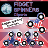 FIDGET SPINNERS CLIP ART : English-speaking countries