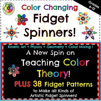 FIDGET SPINNERS with Optical Color Blending!    Art+Science+Physics & Geometry!