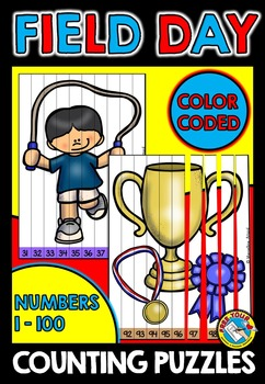 FIELD DAY COUNTING PUZZLES: NUMBERS 1 TO 100