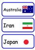 FIFA 2018 World Cup Country and Flag Labels