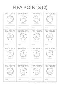 FIFA Pack 1 - Classroom Management - Shops, Currency and Packs!