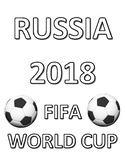 FIFA WORLD CUP 2018 COLORING, BUNDLE 18 PAGES, RUSSIA 2018