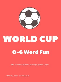 FIFA World Cup 2018: Orton-Gillingham Activities