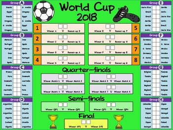 Fifa World Cup  Wall Planner With Fixtures