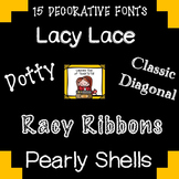 FONTS FOR COMMERCIAL USE - FIFTEEN DECORATIVE FONTS {SET 1