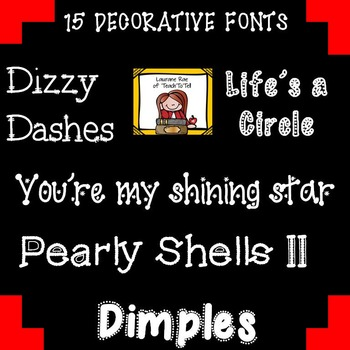 FONTS FOR COMMERCIAL USE - FIFTEEN DECORATIVE FONTS {SET 2