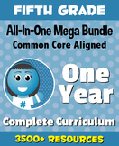 FIFTH GRADE All-In-One *MEGA BUNDLE* {1 Year Complete Curriculum & CC Aligned}