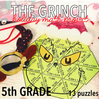 FIFTH GRADE CHRISTMAS MATH PROJECT - THE GRINCH