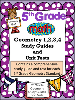 FIFTH GRADE COMMON CORE MATH G1, 2, 3, 4 COMPLETE UNIT-Coordinate Grids/Polygons
