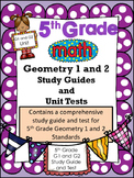 FIFTH GRADE COMMON CORE MATH G1 and G2 Unit-Coordinate Grid System