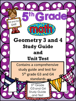 FIFTH GRADE COMMON CORE MATH G3 and G4 Unit-Polygons