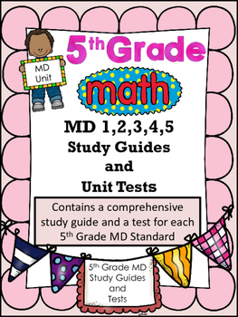 FIFTH GRADE COMMON CORE MATH MD 1,2,3,4,5 COMPLETE UNIT-M'
