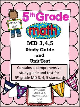 FIFTH GRADE COMMON CORE MATH MD 3, 4, 5 UNIT-Volume