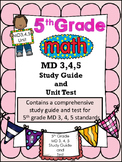FIFTH GRADE COMMON CORE MATH MD 3, 4, 5 UNIT-Volume