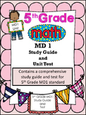 FIFTH GRADE COMMON CORE MATH MD1 UNIT-Measurement (Customa