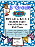 FIFTH GRADE COMMON CORE MATH COMPLETE NBT UNIT (NBT 1-7)