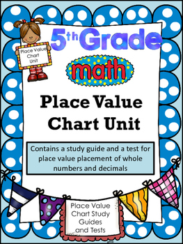 FIFTH GRADE COMMON CORE MATH NBT1 and NBT2-Place Value Charts