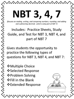 FIFTH GRADE COMMON CORE MATH NBT3,4,7-Addition/Subtraction Decimals, Rounding