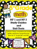FIFTH GRADE COMMON CORE MATH NF1 and NF2 Unit-Adding and Subtracting Fractions