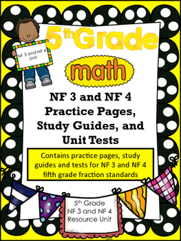 FIFTH GRADE COMMON CORE MATH NF3 and NF4 Unit-Fraction Multiplication/Division