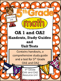 FIFTH GRADE COMMON CORE MATH OA1, OA2-Order of Operations/