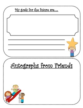 FIFTH GRADE MEMORIES YEARBOOK AUTOGRAPH BOOK ~14 PAGE BOOKLET~ END OF YEAR PDF