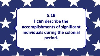 FIFTH GRADE SOCIAL STUDIES TEKS AND I CAN STATEMENTS