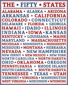 FIFTY STATES (8x10)