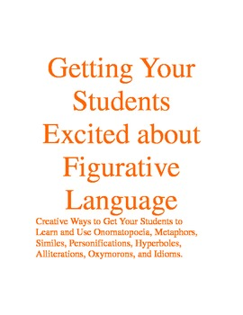 FIGURATIVE LANGUAGE- 12 CREATIVE ACTIVITIES