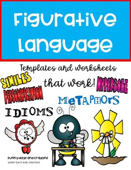 FIGURATIVE LANGUAGE ACTIVITIES / WORKSHEETS / TEMPLATES