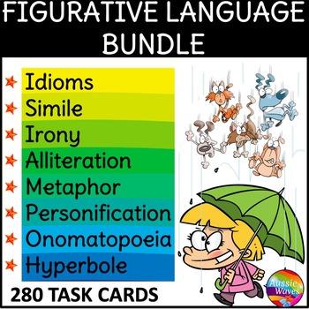 FIGURATIVE LANGUAGE BUNDLE Writing Anchor Charts & Task Ca