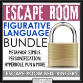 FIGURATIVE LANGUAGE ESCAPE ROOM BELL RINGER BUNDLE