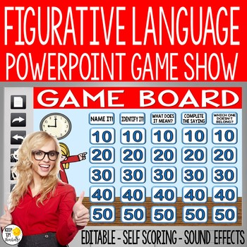 FIGURATIVE LANGUAGE GAME SHOW: AN EDITABLE POWERPOINT JEOPARDY STYLE GAME