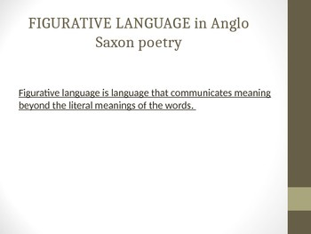 FIGURATIVE LANGUAGE IN ANGLO SAXON POETRY/Exeter Book