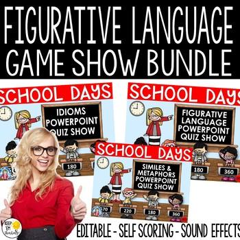 FIGURATIVE LANGUAGE JEOPARDY GAME SHOW BUNDLE