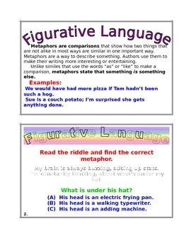 FIGURATIVE LANGUAGE TASK CARD SET