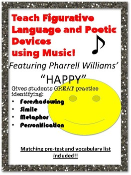 "FIGURATIVE LANGUAGE in Pharrell Williams' ""Happy"""