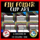 CLOSED AND OPEN FILE FOLDER CLIPART (DETECTIVE CLIPART THEME)