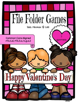 Valentine's Day File Folder Games