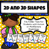 AUTISM FILE FOLDER TASKS FOR TEACHING 2D AND 3D SHAPES FOR
