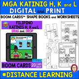 FILIPINO CONSONANTS H, K and L SHAPE BOOKS, WORKSHEEETS an