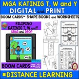 FILIPINO CONSONANTS T, W and Y SHAPE BOOKS, WORKSHEEETS an